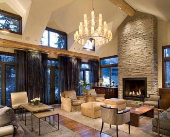 Rustic decor living room